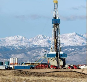 Fracking in Wyoming, USA